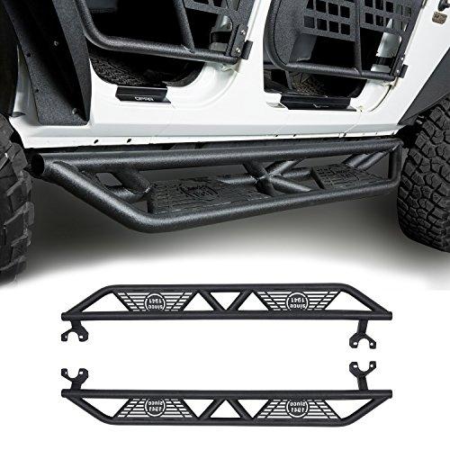 4 Door Nerf Step (2007-2018 JK Black Blade Side Step Nerf Bars for Jeep Wrangler Unlimited 4-Door)