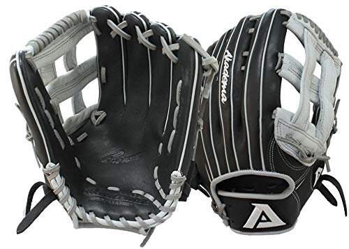 Akadema Prosoft Elite Series Baseball Outfielders Gloves, Black/Silver, Left - Baseball Glove Akadema