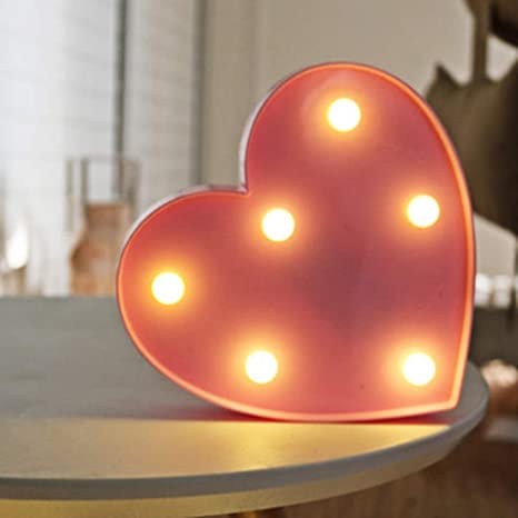 Amazon Com Guocheng Heart Marquee Light Led Night Light Decor Battery Operated Table Lamps On Wall For Nursery Children Kids Bedroom Lighting Decoration Birthday Christmas Gifts For Kids Pink Heart Home Improvement