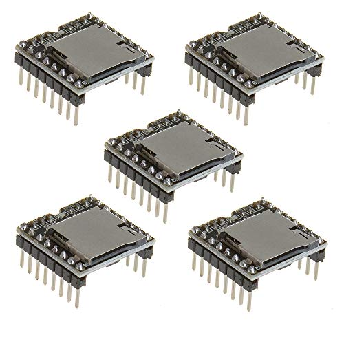 Anmbest 5PCS YX5200 DFPlayer Mini MP3 Player Module MP3 Voice Decode Board Supporting TF Card U-Disk IO/Serial Port/AD for Arduino - $27.99