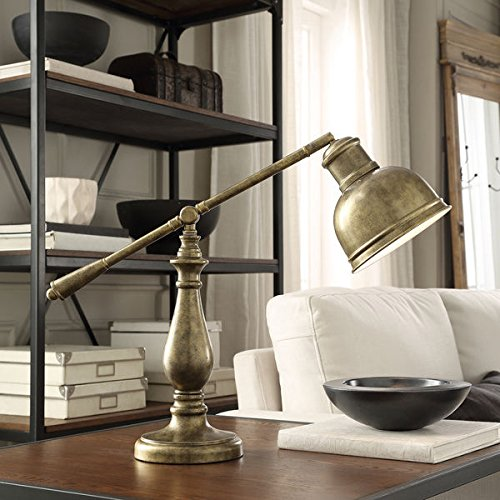 Tolomeo Mini Wall (INSPIRE Q Maximus Metal Antiqued Brass 1-light Accent Desk Lamp)