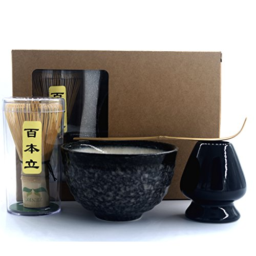 Lowest Price! Complete Start Up Matcha Tea Kit - Retro Japanese Natural Bamboo Matcha Whisk ( Chasen...