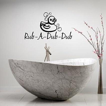 Amazon.com: Enid545Anne RUBADUBDUB DUCK LETTERING BATH WORDS ...