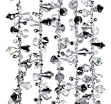 Kurt Adler Iridescent Silver Large Twinkle Ice Double Twist Bead Garland