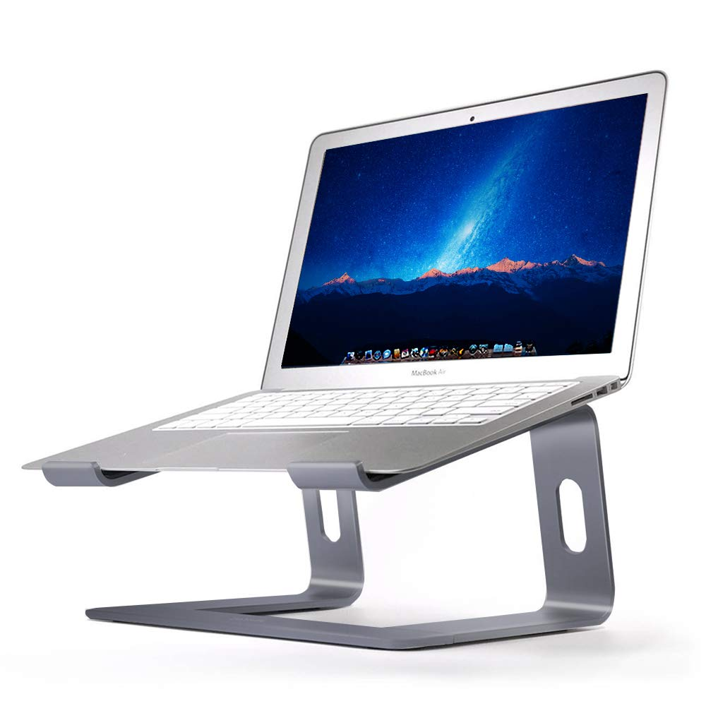 Orionstar Laptop Stand Aluminum Laptop Riser Compatible with Apple Mac MacBook Air Pro 10 to 15.6 Inch Notebook Computer, Ergonomic Elevator Holder, Space Grey