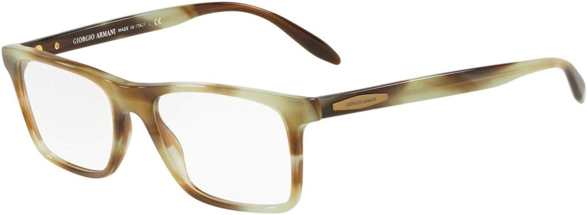 d16c15a3eea Eyeglasses Giorgio Armani AR 7163 5708 STRIPED GREEN at Amazon Men s  Clothing store