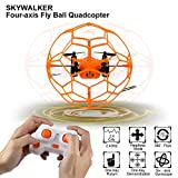 Qsmily Mini Drone Helic Max Sky Walker 1340 2.4GHz 4CH Fly Ball RC Quadcopter 3D Flip Roller Headless Mode Drone RC Helicopter Toys