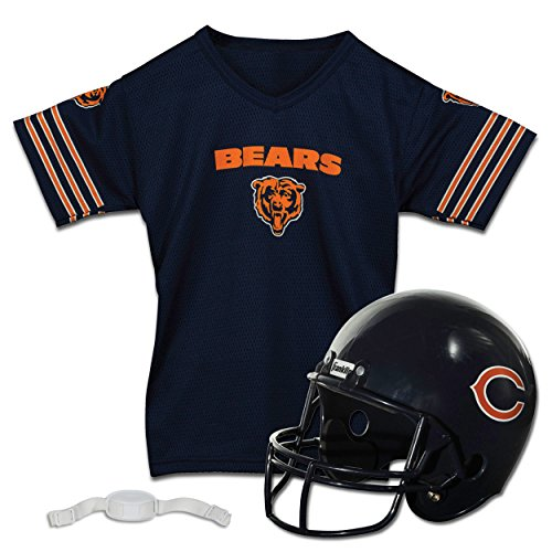 Franklin Sports NFL Chicago Bears Replica Youth Helmet and Jersey Set ()