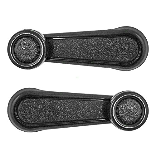 (Pair of Plastic Window Crank Handles Replacement for Toyota SUV Pickup Truck 69260-10040 AutoAndArt)