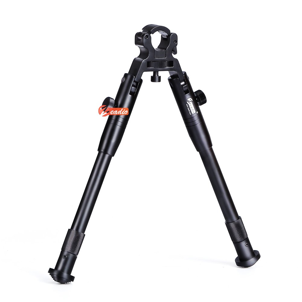 Zeadio Quick-Detachable Foldable Bipod with Clamp for Air Rifle Gun (Barrel from 11 to 19mm), ZBP-001