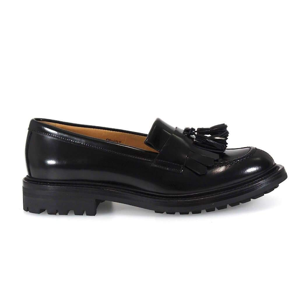 - Church's Women's DD00069EMF0AAB Black Leather Loafers