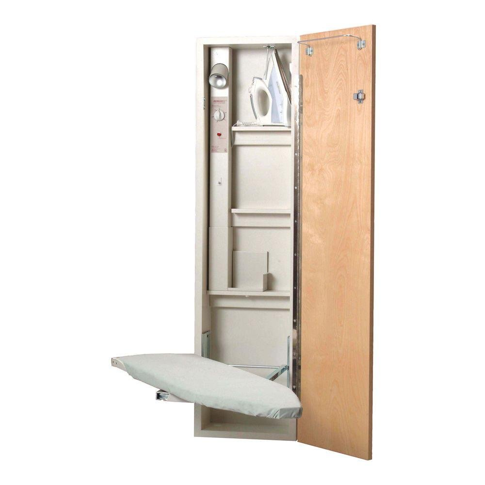 Iron-A-Way AS461AU A-46 Ironing Center with Swivel Board, Birch