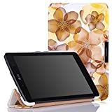 MoKo LG G Pad 7.0 Case - Ultra Slim Lightweight Smart Shell Stand Cover Case with Auto Wake / Sleep for LG G Pad V400 / V410 (LTE) / VK410 / UK410 / LK430 (G Pad F7.0) 7-Inch Tablet, Floral YELLOW