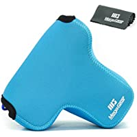 MegaGear Ultra Light Neoprene Camera Case Bag with Carabiner for Fujifilm X-T2 with 18-55MM Lens (Blue)