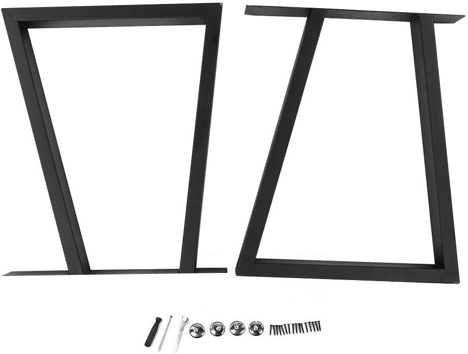 Robuste e Stabili Gambe Metallo per Tavolo Gambe da Tavolo Trapezoidali 2 Pezzi Gambe Tavolo Fai-da-Te per Soggiorno Camera da Letto Ufficio Tavolino Tavolo da Pranzo Tavolo da t/è 60 * 72 cm