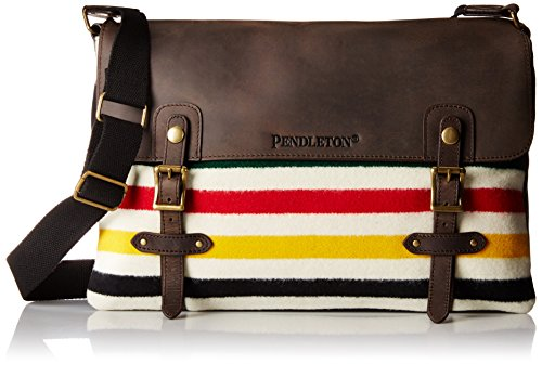Pendleton Men's Mineral Messenger Bag, Glacier Park Stripe, One Size
