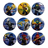 Lego Movie Buttons Badges 9 Pcs Set #3