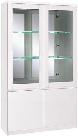 Estantería Armario, vitrina, 110 cm de ancho, aspecto: Blanco ...