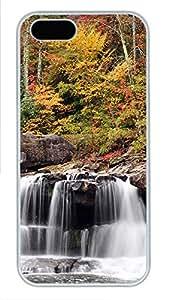 iPhone 5 5S Case Nature Autumn Mill PC Custom iPhone 5 5S Case Cover White