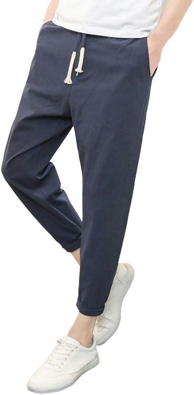 YiYLuuneo Pantalones De CháNdal De Hombre 2019 Sueltos De ...