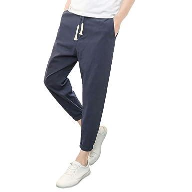 7726033763 NPRADLA Pantaloni da Uomo Sportivi Eleganti in Puro Colore Tethers ...