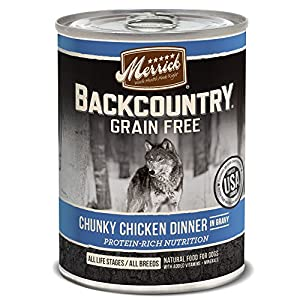 Merrick Backcountry Grain Free Wet Dog Food, 12.7 Oz, 12 Count Chunky Chicken 3
