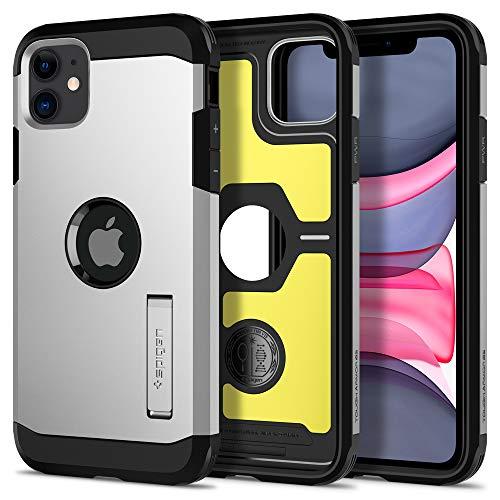 Spigen Tough Armor Designed for Apple iPhone 11 Case (2019) - XP Satin Silver (Best Button Phones 2019)