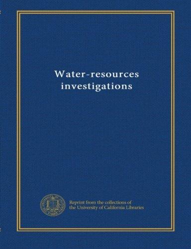 Read Online Water-resources investigations (v.89 no. 4102) pdf epub