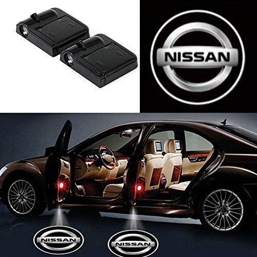 led car logo on door nissan - 1