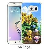 Fashion Designed Pokemon 15 White Samsung Galaxy S6 Edge Phone Case