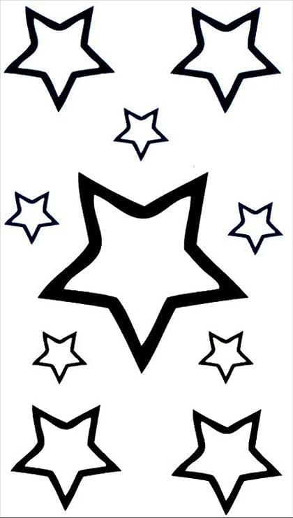 Tatuajes temporales de estrellas minimalistas para hombre y mujer ...