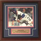 Nolan Ryan Autographed Texas Rangers Signed Framed 8x10 Photo Fight Punching Robin Ventura JSA COA