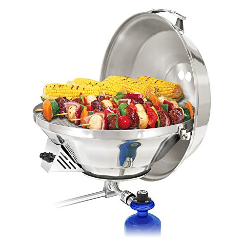 Magma Products, A10-217-3 Marine Kettle 3, A10-217-3, Combination Stove & Gas Grill, Propane Portable Oven, Party Size 17'