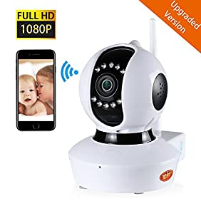 NexGadget Upgraded Version Wireless 1080P HD Security Surveillance IP Camera Home Monitor with Two-Way Audio, Night Vision, Motion Detection