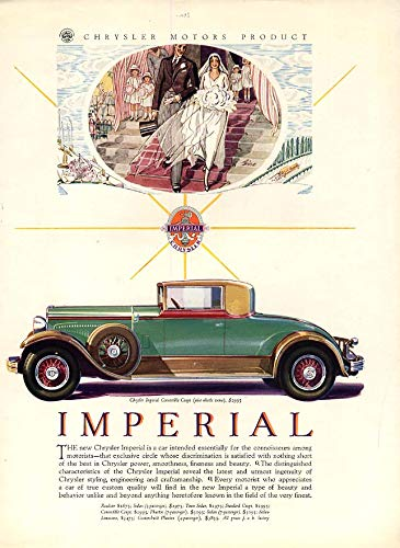 (Essentially for connoisseurs Chrysler Imperial Convertible Coupe ad 1929 VF)