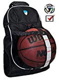 Hard Work Sports Basketball Backpack - Soccer Backpack With Ball Compartment