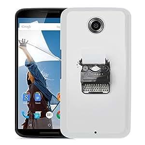 Unique Designed Cover Case For Google Nexus 6 With Mn Florian Klauer Type Writer Minimal (2) Phone Case