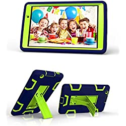 LG G Pad X 8.0 / G Pad III 8.0 Case, Rugged High Impact Hybrid Drop proof Armor Defender Protection Case Built in Kickstand for LG G Pad X 8.0 V521/G Pad III 8.0 V525 8-Inch Tablet (Navy+Green)
