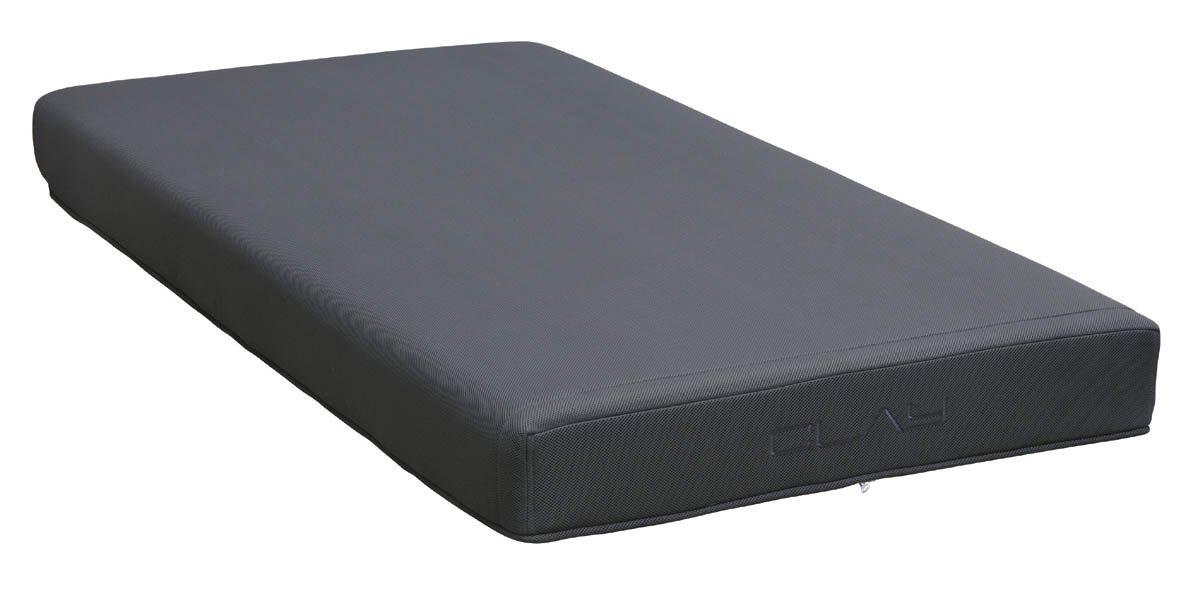 MA-クレイ 日本製 ノンコイルマットレス セミダブル ソフトタイプ 幅120cm グレー 【2梱包】 B077GWDTFB