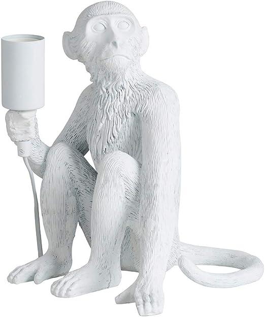 Minisun – Lámpara de Mesa Mono – Resina Blanca – Lámpara Moderna - Clase de eficiencia energética A - Iluminación Interior - Lámpara sobremesa blanca