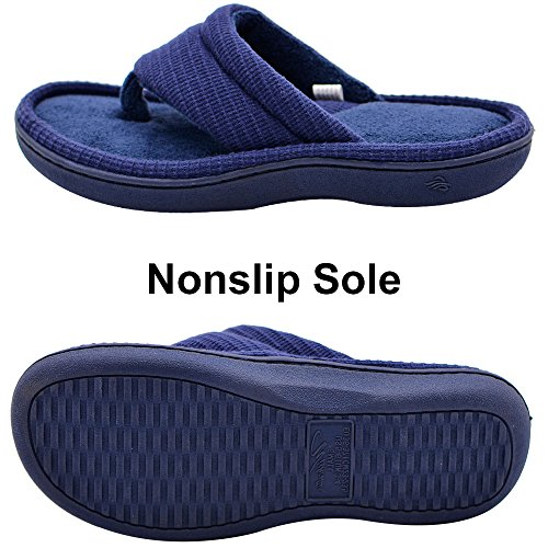 Navy Memory Breathable Open Flip Women's Quick Foam Flops Toe Slippers Wishcotton Dry Summer X7qAw