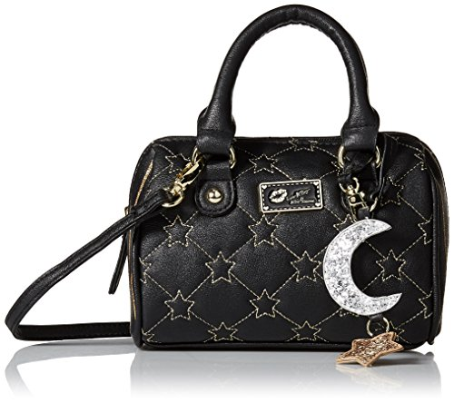 Stars Mini Crossbody Barrel Gold Bag Johnson Black Satchel Betsey E8gfWwqE