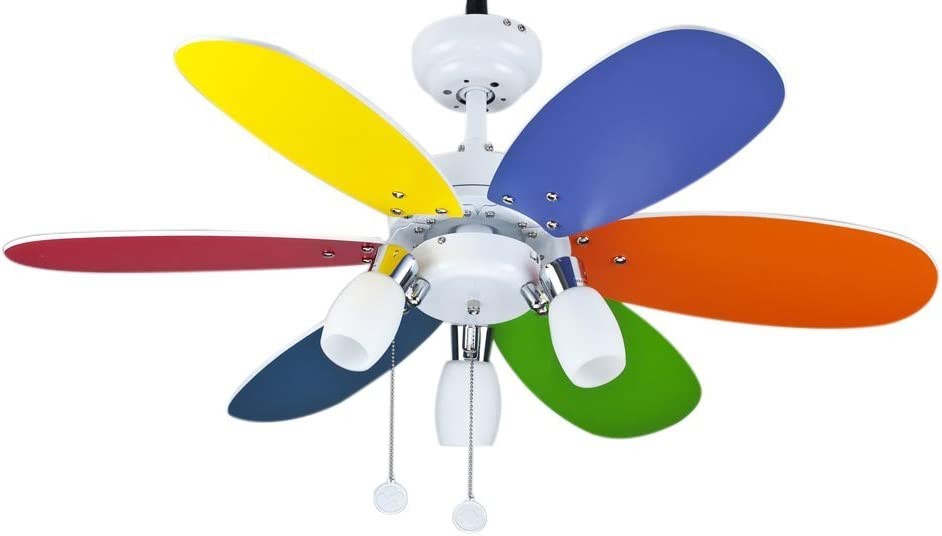 Interfan Ventilador Parchís, Multicolor: Amazon.es: Iluminación