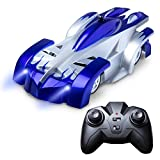 Wall Climber Remote Control Car for Boys & Girls Includes Remote + Car Toys-Specific USB Quick Charger – Gravity-Defying RC Cars for Kids (Blue)