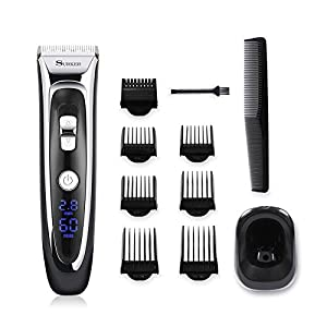 Surker Model RFC-688B Electric Foil Hair Trimmer for Men with Clean & Charge Station, Electric Men's Women's Hair Clippers Cutter Clippers Shavers, Cordless Shaving System,Best Birhtday Gift For Men