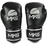 Luva de Boxe Energy, MKS, Preta Metálico