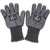 BBQ Butler Premium Fabric Cooking & Grilling Oven Gloves - Heat & Flame Resistant - Black (2 Gloves)