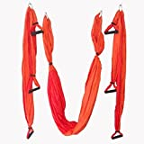 AS Aerial yoga equipment / Yoga Sling /Inversion Tool, orange / red,mixed colors!