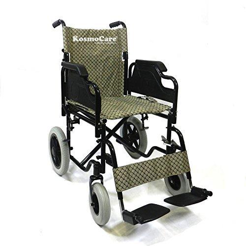KosmoCare Tranz Plus Premium Powder Coated Transit Wheelchair (Tranz Plus-Doli)