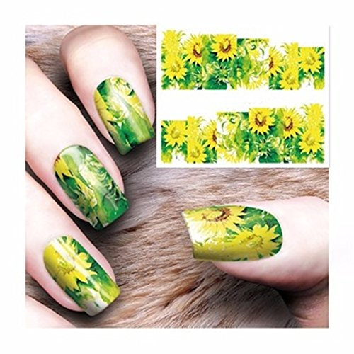 1 Set Flowers Nail Art Stickers Watermark Water Transfer Nails Wrap Paint Tattoos Stamper Plates Templates Tools Tips Kits Magnificent Popular Xmas Holidays Stick Tool Vinyls Decals Kit, -